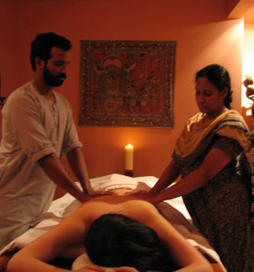 Ayurvedic massage at Tor Spa Retreat